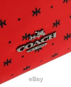 Coach Des Tn-o. Disney Mickey Charles Sac À Dos Prairie Bandana Imprimé Rouge F59358