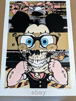 D Visage Pop-eye-con Provocateurs Édition Poster Obey Street Art Dface