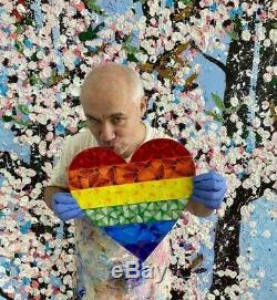 Damien Hirst Papillon Arc-en-n Imprimer Coeur De Papillon Set Petite Édition Kusama