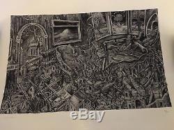 David Welker Maze Crayon Édition Art Print Signé Rare XX / 150 Rift Phish