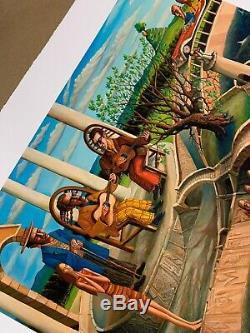 David Welker Troubadours Art Affiche D'impression Giclee Avec Coa S / N # / 100 Complet