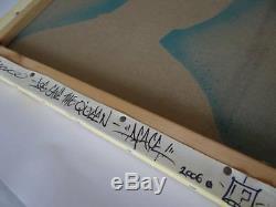 Dface Dog Sauvez La Reine, Toile Signée Dface, Impression Dstq Banksy Invader Kaws
