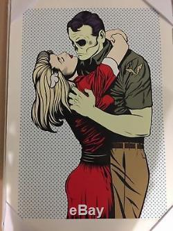 Dface Love Ne Veut Pas Nous Déchirer Affiche D'art Sérigraphiée Limitée / 150 Dface
