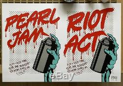 Dface Pearl Jam Riot Act Signé Imprimer Ed 40