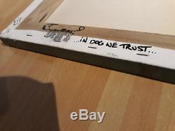 Dface Toile Originale Signée 2006 Rare Début Catalogne Pleine Provenance