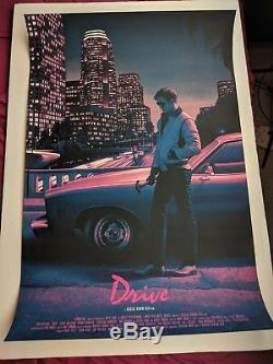 Drive Rory Kurtz Mondo Impression Affiche Film Art Film Sérigraphie Gosling Portrait