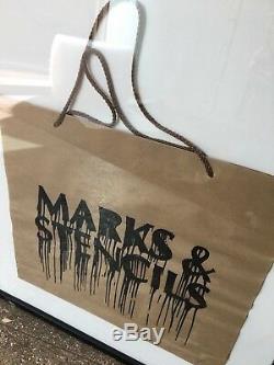 Écran Banksy- Imprimé À La Main Marks & Pochoirs Rare Screenprint Pas De Sac De Signature