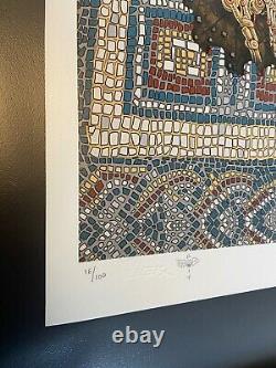 Emek Eternal Embrace Signed & Doodled 18x24 Sérigraphie #'d /100 Art Poster