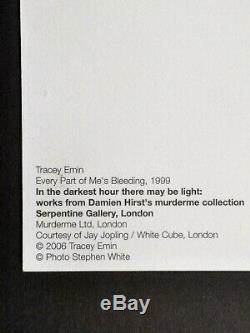 Emin Chaque Partie Tracey De Moi (1999) Signe Rare Encadré
