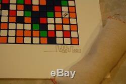 Envahisseur De L'espace Rubik Ohh. Très Bien 2011 Reproduction D'art Signée En Relief Numérotée