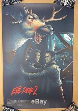 Evil Dead 2 Affiche De Sérigraphie # 30/90 De Rabalais Not Mondo