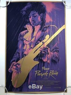 Gabz Purple Rain Signé Ap Print Prince Grzegorz Domaradzki Mondo Tyler Stout