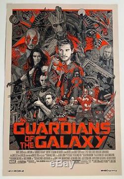 Gardiens De La Galaxie Variante Tyler Stout 2014 Sdcc Marvel Affiche De Mondo