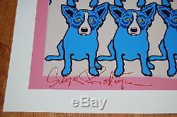 George Rodrigue Chien Bleu Codex Blue Chien Sérigraphie Sérigraphie Impression Art Signé