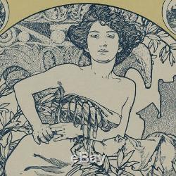 Gravure Originale 1907 Bois Alfons Mucha L'habitation Cover Pratique