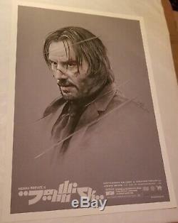 Grzegorz Domaradzki Gabz Affiche De Projection Signée John Wick Mondo Keanu