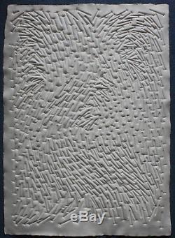 Günther Uecker Zero Gesuchter Prägedruck Museales Exemplar, Spitzen Zustand, Neu