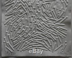 Günther Uecker Zero Gesuchter Prägedruck Museales Exemple, Einfach Erstklassig