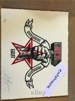 Hammer Et Fet Letterpress Obey Signé (nouveau)