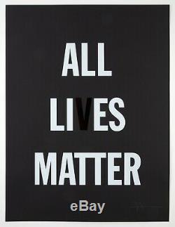 Hank Willis Thomas All LI Es Matter Ltd. Ed. Impressions Signées Et Numérotées 24x18