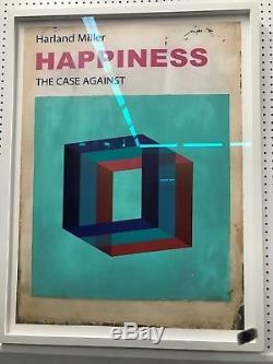 Harland Miller Happiness L'affaire Contre L'impression Signée. Verre D'art Encadré