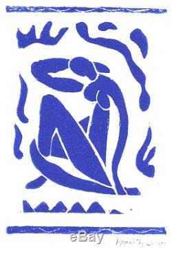 Henri Matisse Signée À La Main Ltd Édition Nu Bleu Avec Coa (sans Cadre)