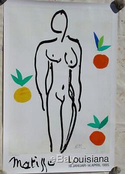 Henri Matissenude Avec Oranges Musée 1953louisiana Exposition Affiche Originale
