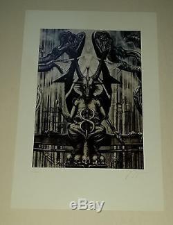 Hr Giger Alien Prométhée Necronomicon Baphomet 1977 Signé Très Rare