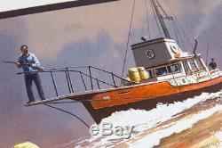 Jaws The Chase De Jc Richard Amity'74 Affiche De Gravure D'écran Art Mondo Artist