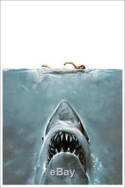 Jaws The Shark Affiche Sérigraphie Art Mondo Roger Kastel Édition Limitée Pcc