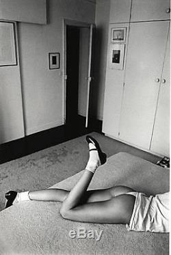 Jeanloup Sieff 6x9 N & B Photo De Femme Au Lit, Signée