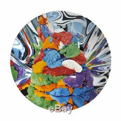 Jeff Koons Assiette En Porcelaine Émaillée Numérotée Play-doh Signée Bernardaud 2014 Menthe