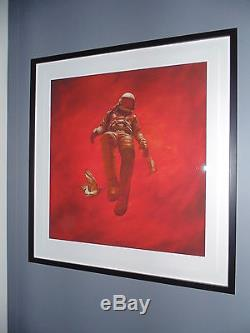 Jeremy Geddes Red Cosmonaut Giclee Red Poster Affiche L'astronaute Ascension Ashley Wood