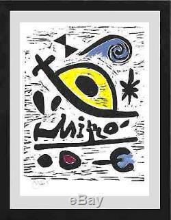 Joan Miro Edition Signée À La Main, Édition Limitée, Édition 26, Avec Certificat D'authenticité (non Encadrée)