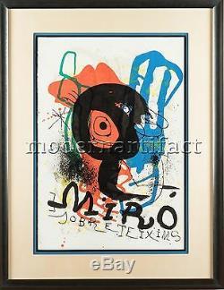 Joan Miro Exposition Sobreteixims Grande Gravure Sur Édition Paper Limited