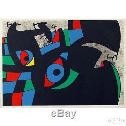 Joan Miro Seltene Grafik Original Eidechse Mit Den Goldfedern Aus 1971