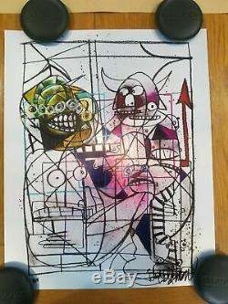 Joey Feldman Art Crayon Monster Foil Variante Signée X / 25 Epuisé