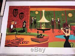Josh Agle Shag Primal Coupes Print Art Coa Avec Sérigraphie Milieu Du Siècle Moderne MCM
