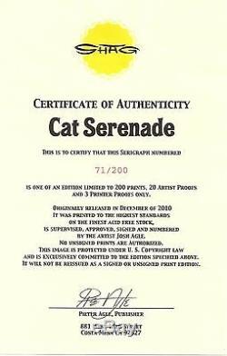 Josh Shag Agle Cat Serenade Affiche Imprimée Sur Tiki Sérigraphie