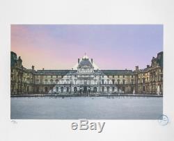 Jr Au Louvre La Pyramide 12 Juin 2016 Lithographie En Édition Limitée Signée / 250