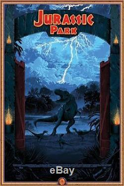 Jurassic Park De Kilian Eng Rare Alternative Coffret Affiche De Films N ° / 15 Nt Mondo
