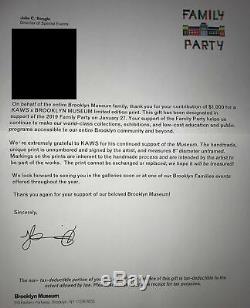 Kaws X Brooklyn Museum Édition Limitée 8 Family Party 100% Authentique