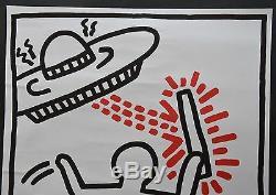 Keith Haring Affiche De L'exposition Originale De La Galerie Watari Tokyo Japan 1983very Rare
