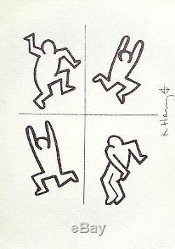 Keith Haring, Figures 1986, Lithographie Signée À La Main