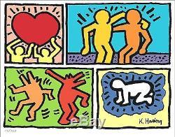 Keith Haring - Lithographie En Édition Limitée Signée Et Numérotée À La Main (sans Cadre)