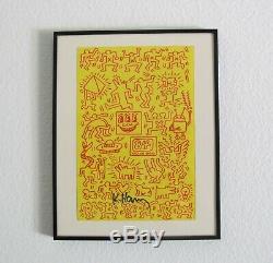 Keith Haring Signé Couverture De Livre Illustration Art En Transit
