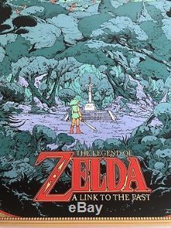 Kilian Eng Affiche 'the Legend Of Zelda' Nintendo Mondo Édition Limitée, Nda