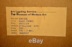Kyohei Inukai Original Signé Moma Spectrum Moderne Résumé Sérigraphies Serigraph