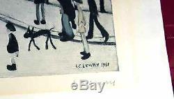 L S Lowry Édition Limitée Signée Passage À Niveau