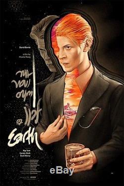 L'homme Qui Est Tombé Sur La Terre David Bowie Affiche Ansin Mondo Affiche Sérigraphie Sdcc